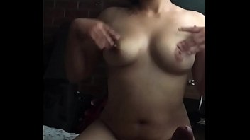 Chubby latin girlfriend gives me a blowjob