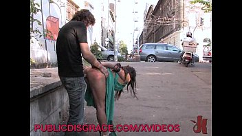 Babes is Bound and Face Fucked Outdoors