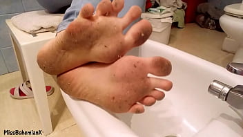 Washing Extremely Dirty Feet - Close Up (TEASER)