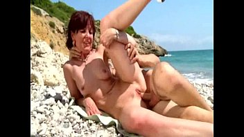 Joyce analfucked on a beach in Spain  #43480