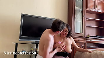 Sultry stepmom fucked hard by stepson when he found out that she bought a dress with his money (Alina Tumanova)