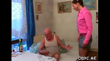 Kinky old man gets favourable with a tight youn...