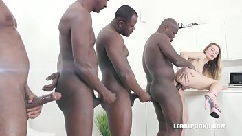 Black men drinking black boy piss Timea bella comes to enjoy golden shower with black bulls iv302