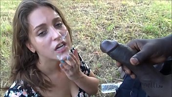 Horny German outdoor Fuck with big black Cock
