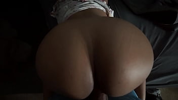 young girl doing doggy style after sucking cock big ass dark skin latin latina babe
