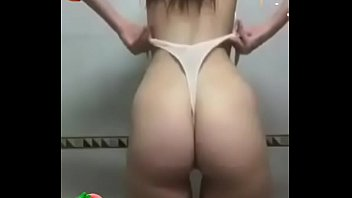 Sexy Horny Latina Lesbian Wedgie Teen Giving Herself a Tight Naked Shoulder Wedgie in Skimpy White Thong - Full Video at Patreon.com/wedgieclub