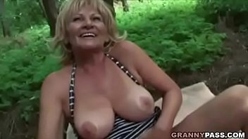 Fucking the women - Busty granny gets fucked in the forest