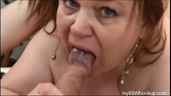 Cum in a BBW Mouth