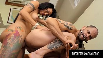 Big Booty Shemale Nicolly Pantoja Shoves Her Raw Dick up a Guys Asshole