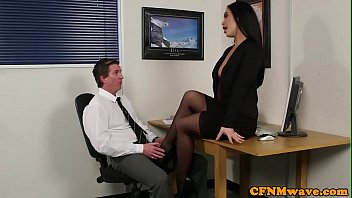 CFNM office babes tugging guys cock