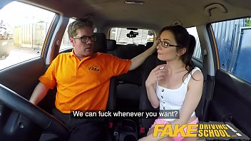 Teen fucks stickshift - Fake driving school hot italian nympho minx valentina bianco craves cock