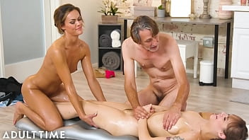 ADULT TIME - Horny In-Laws Take Turns Fucking Aila Donovan During Nuru Massage