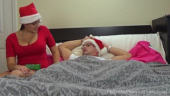 Mother and aunt fuck sons Melanie hicks in aunties christmas gift- milf aunt fucks nephew gets creampie