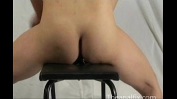 wife self anal destruction with huge dildo