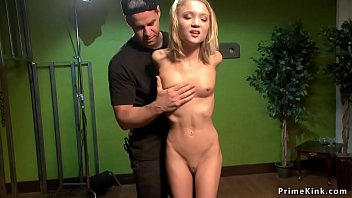 Tight bound blonde spinner tormented