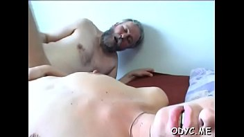Free old xxx amature Horny juvenile amateur babe gives old guy a steamy blowjob