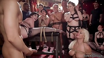 Bdsm orgy fucking and deep throating