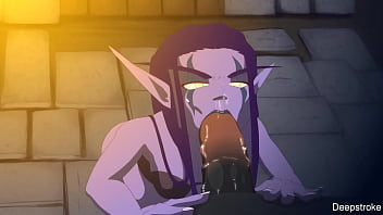 Elf Slave Cum In Throat (Deepstroke)