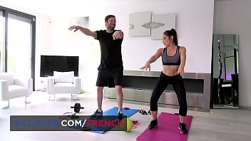 Nice anal fuck with French brunette Mya Lorenn after sport 11 min