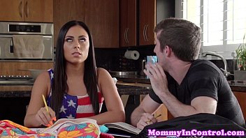 Busty stepmom cumswapping with teenage brat Preview