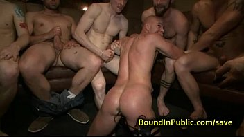 Bdsm gay bondage orgies Gay held down and rough gangbang fucked