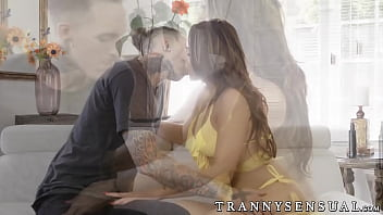 Ts star Chanel Santini gets a sensual bj before being fucked