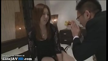 Japanese Milf accepts to fuck horny friend