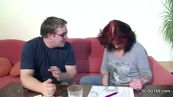 Mother Give German Step-Son First Fuck to Lost Virgin
