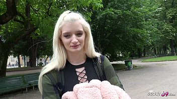 GERMAN SCOUT - PETITE TEEN CHEAT OWN BOYFRIEND AT STREET CASTING FOR CASH