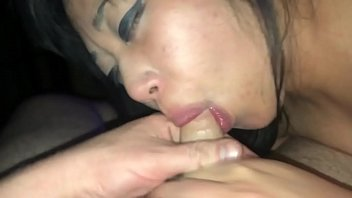 Amateur girlfriend sucking my tiny dick
