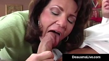Cougar handjob free video Busty cougar deauxma fucks the tax man in her house oho