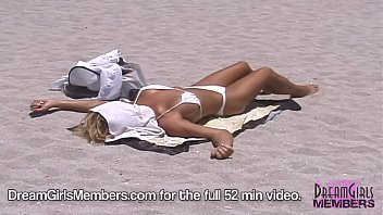 Voyeurs Paradise South Beach Hot Topless Sunbathers