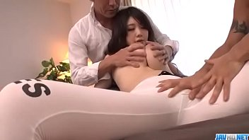 Rie Tachikawa serious threesome which makes her scream - More at Javhd.net