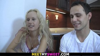 Mature couple and blonde teen 6 min