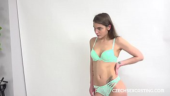 Hot brunette gets personal advice in casting session
