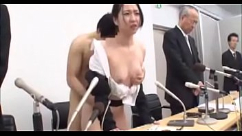 Japanese wife undressed,apologized on stage,humiliated beside her husband 01 of 02