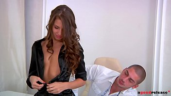 Sexy Russian Secretary Helena Fox Relieves Her Boss' Stress With Deepthroat