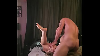 Big cock deep in wifes pussy till he cums