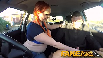 Men over 50 sex drive Fake driving school examiner sprays cum all over learners hairy pussy