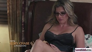 Stepmom sits on Baileys face and licks her pussy