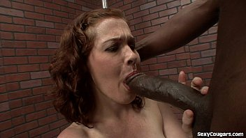Hardcore long - Cute milf takes a big black dick in her hairy pussy