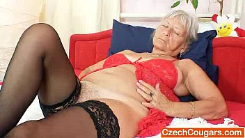 Unlovely Gramma Cecilie Toys Her  Haired Muff