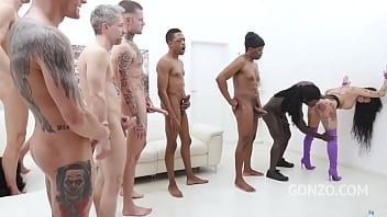 Megan Inky assfucked by 1, 2, 3, 4 guys and then gangbanged by all 10 of them SZ2646