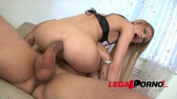 Perfect Blonde slut Amanda gets her tiny ass fucked by monster cock