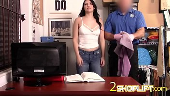 Big booty shoplifter babe is sitting on a huge cock after being arrested.
