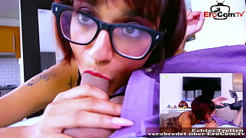 Real Amateur Sex Casting with student teen with glasses POV first time and she like it