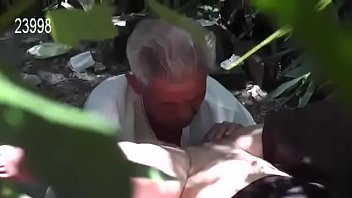 Young Girl  Fucked  Old Man on Graveyard