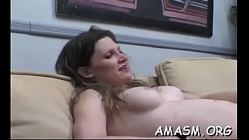 Naked gal face sitting on her dude during their femdom play