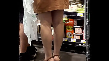 Sexy girl in a supermarket