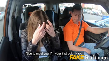 Teen Learns How To Drive A Car- Eveline Dellai